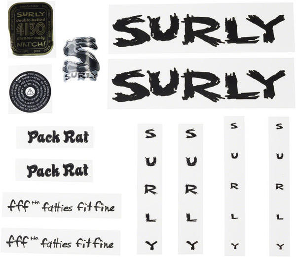 Surly Pack Rat Decal Set