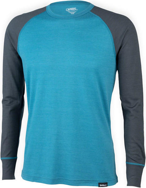 Surly Raglan Shirt Color: Blue/Gray