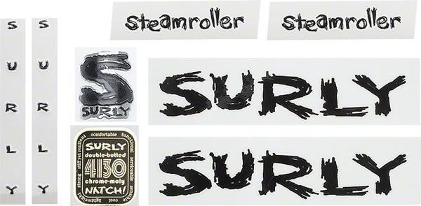 Surly Steamroller Frame Decal Set