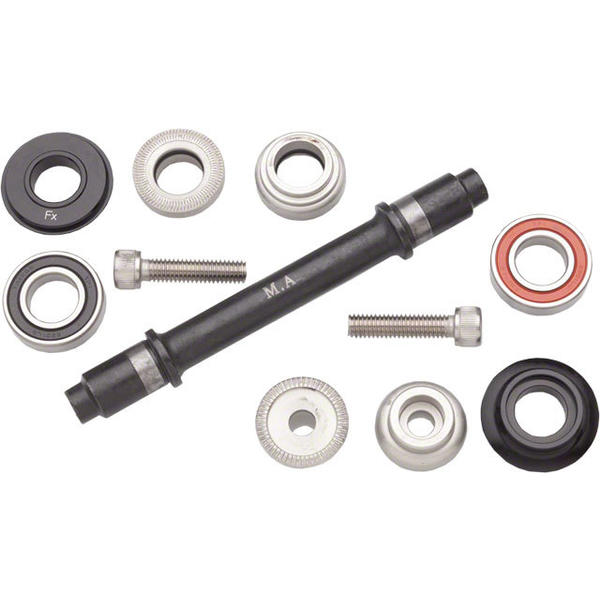 Surly Ultra New Hub Axle Kit Color | Model | Size: Black | Front | 100mm