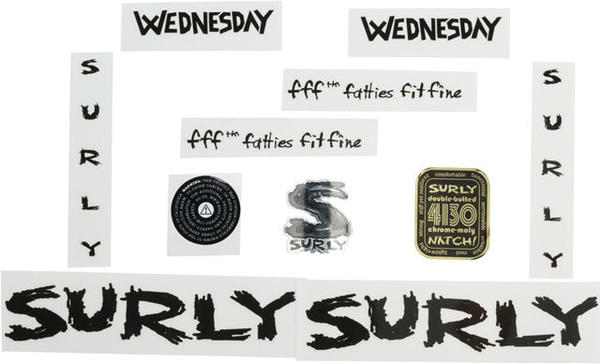Surly Wednesday Decal Set Color: Black