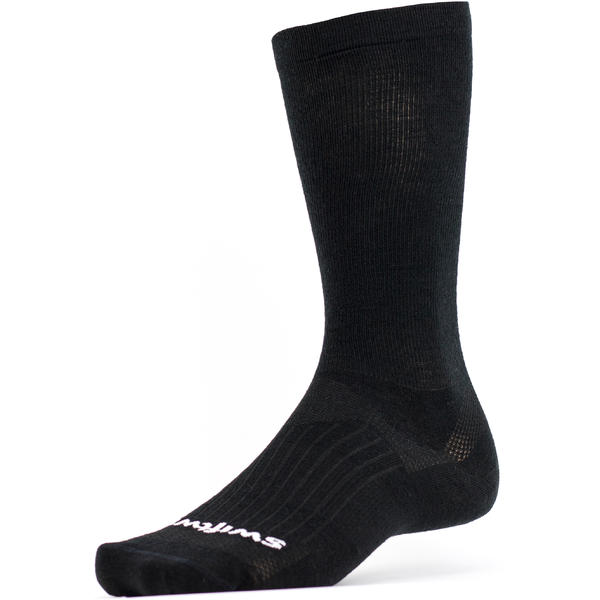 Swiftwick Pursuit Business Eight Tall Crew Socks Color: Business Black