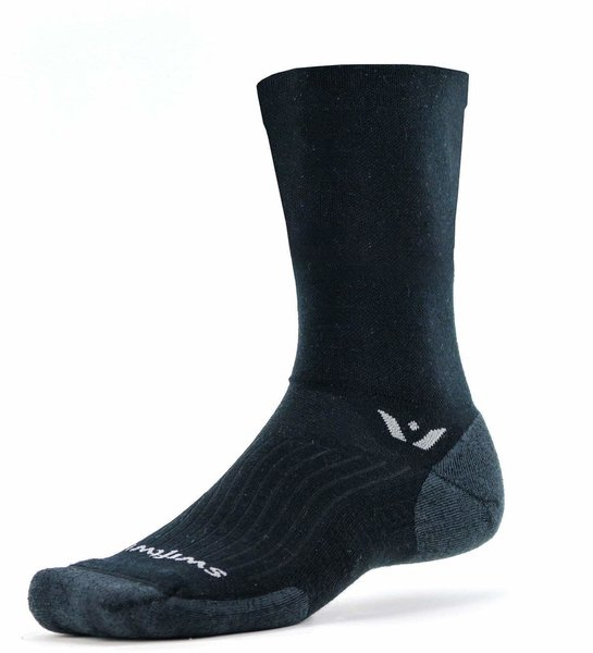 Swiftwick Pursuit Seven Color: Black