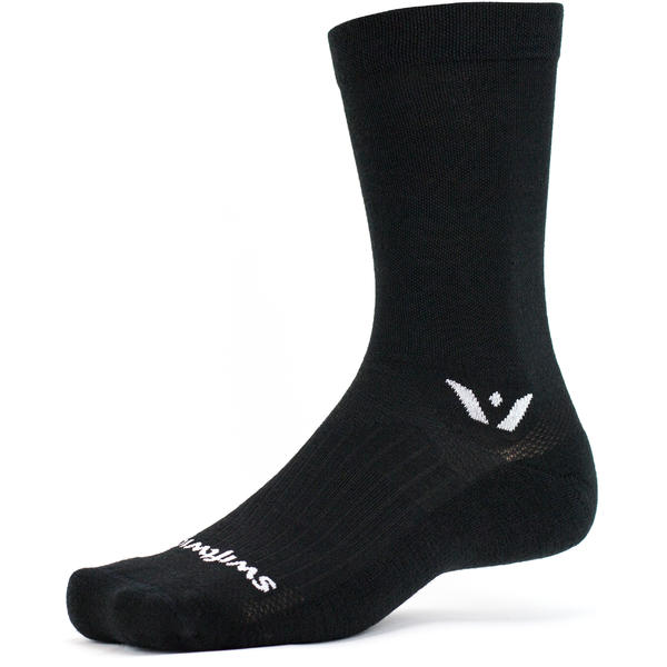Swiftwick Pursuit Seven Crew Socks Color: Black