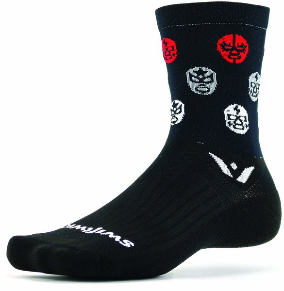 Swiftwick Vision Five Luchador (d14) Color: Black