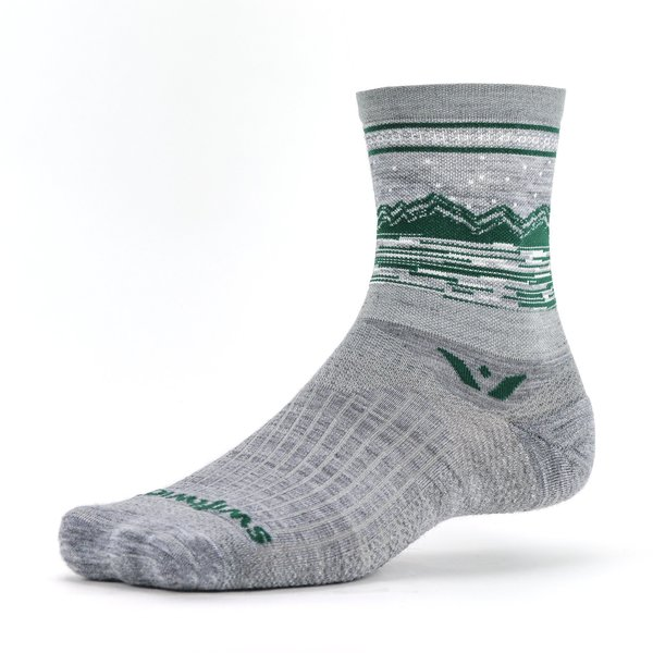 Swiftwick VISION Five Peaks Color: Heather Green
