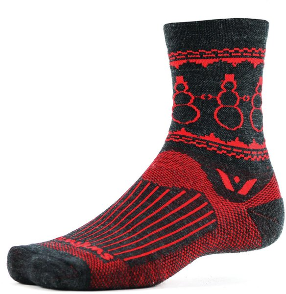 Swiftwick Vision Five Snowman Color: Coal Red