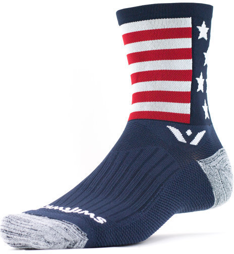 Swiftwick Vision Five Spirit - Crew Socks Color: American Spirit