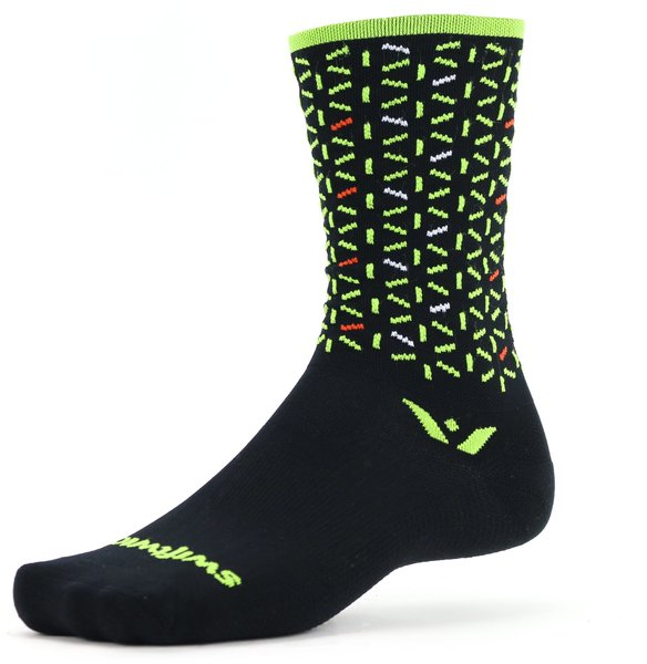 Swiftwick VISION Seven Atom Color: Black Lime