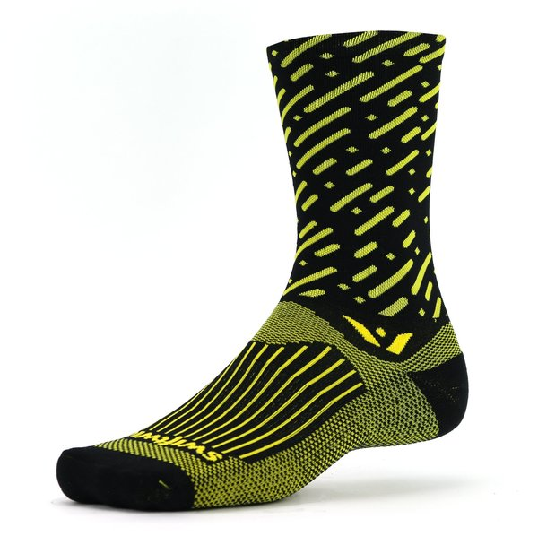 Swiftwick VISION Seven Cadence Color: Black Yellow