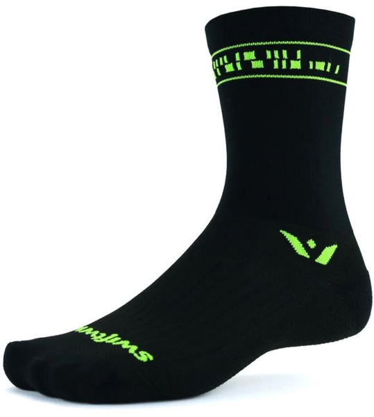 Swiftwick Vision Six Code Color: Code Black Green
