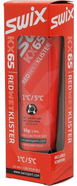 Swix KX65 Red Klister, 1C to 5C