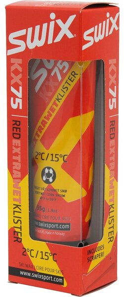 Swix KX75 Red Extra Wet Klister, 2C/15C