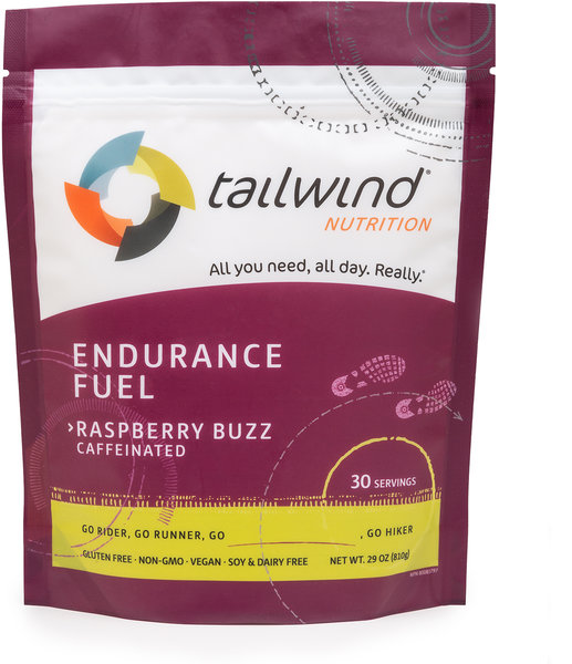 Tailwind Nutrition Caffeinated Endurance Fuel Flavor | Size: Raspberry Buzz | 30-serving