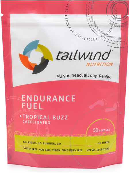 Tailwind Nutrition Caffeinated Endurance Fuel Flavor | Size: Tropical Buzz | 50-serving