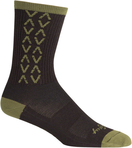 Teravail Logo Socks Color: Avocado Black/Gray