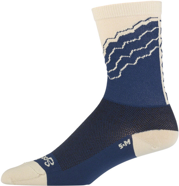 Teravail Logo Socks Color: Navy/Khaki