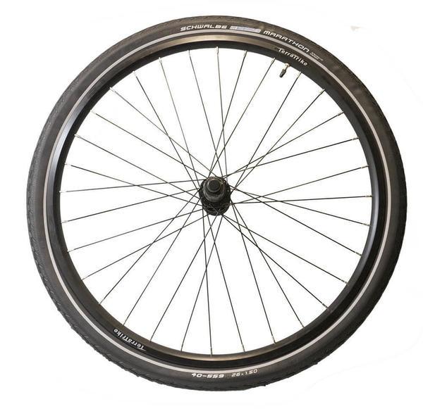 TerraTrike 24-inch Rear Wheel Kit – Double Wall – Black – Marathon Tire