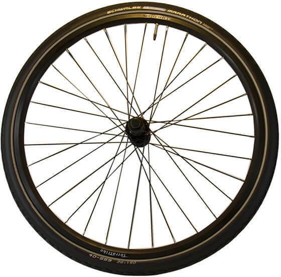 TerraTrike 26-inch Rear Wheel Kit - Double Wall - Black - Marathon Tire