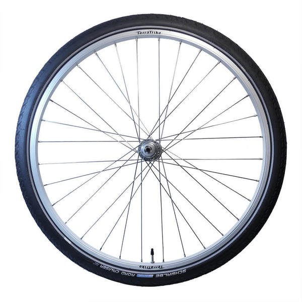 TerraTrike 26-inch Rear Wheel Kit - Single Wall - Silver - Road Cruiser Tire