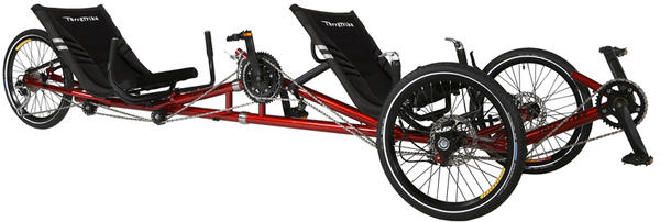 TerraTrike Tandem Pro w/IPS Color: Sparkle Red