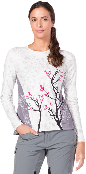 Terry Soleil Flow Long Sleeve Top Color: Chain Blossom/White