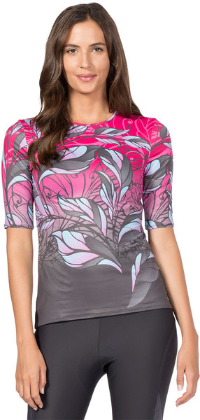 Terry Soleil Short Sleeve Top Color: Painted Lady/Bright