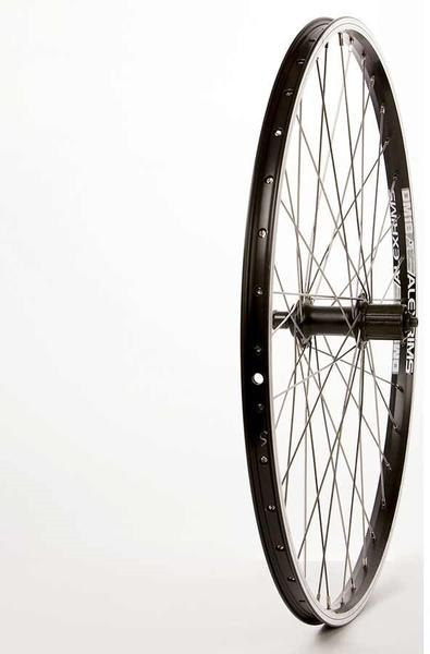 The Wheel Shop Alex DM18 Black/Shimano Acera FH-T3000 26-inch Rear Axle | Color | Size: QR | Black | 26-inch