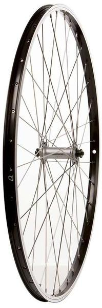 The Wheel Shop Alex DM-18/Shimano Acera HB-T3000 700c Front Axle | Color | Size: QR | Black | 700c