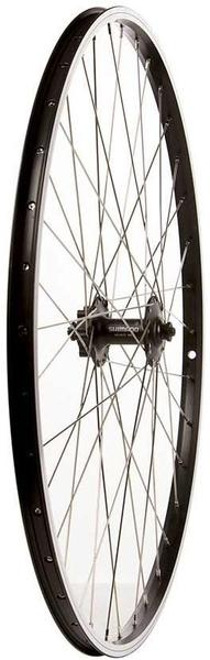 The Wheel Shop Alex DM-18/Shimano HB-M475 700c Front Axle | Color | Size: QR | Black | 700c