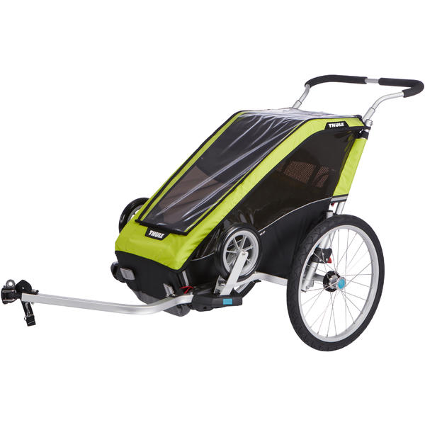 Thule Chariot Cheetah XT 1 + Cycle/Stroll Color: Chartreuse