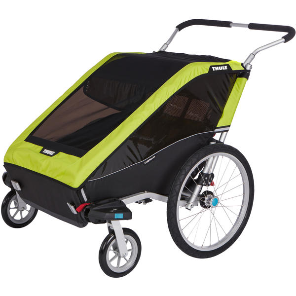 Thule Chariot Cheetah XT 2 + Cycle/Stroll Color: Chartreuse