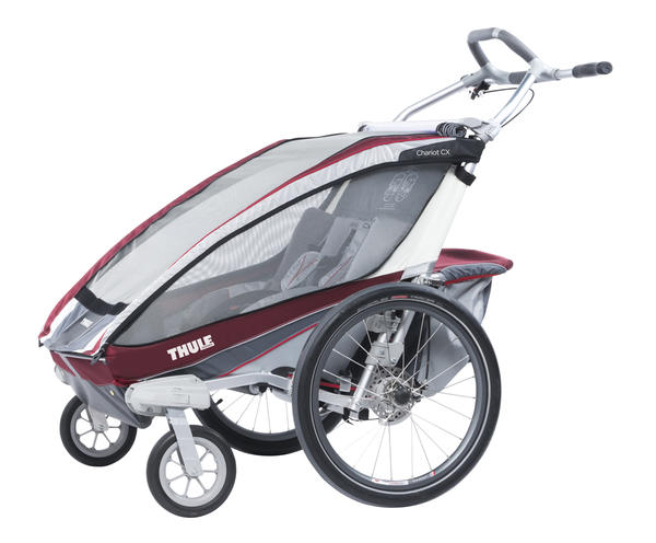 Thule Chariot CX 2 Color: Burgundy
