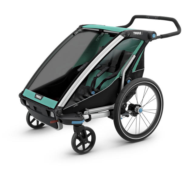 Thule Chariot Lite 2 + Cycle/Stroll Color: Bluegrass