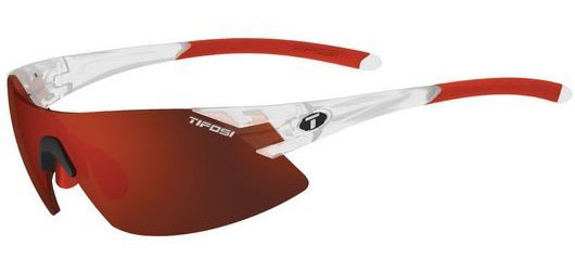 Tifosi Podium XC Clarion Color | Lens: Matte Crystal | Clarion Red|AC Red|Clear