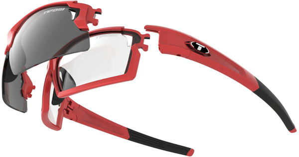 Tifosi Pro Escalate FH Color | Lens: Metallic Red | Smoke|Clear|AC Red