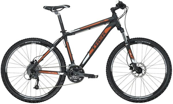 Trek 4300 Disc Color: Matte Metallic Black/Matte Catalyst Orange