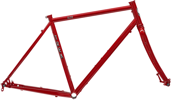 Trek 520 Disc Frameset Color: Diablo Red