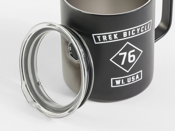 Trek 76 Camp Mug Color: Black/White