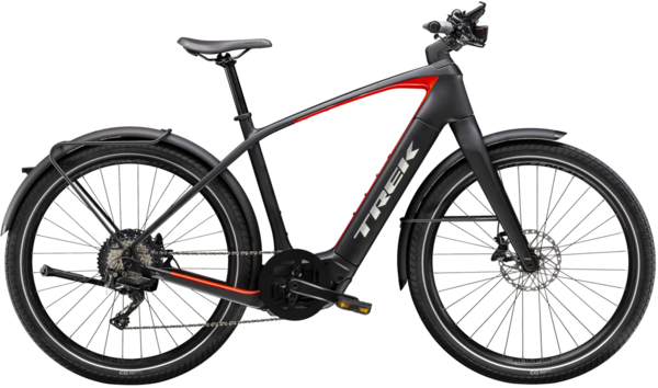 Trek Allant+ 9.9S Color: Matte Trek Black/Gloss Red