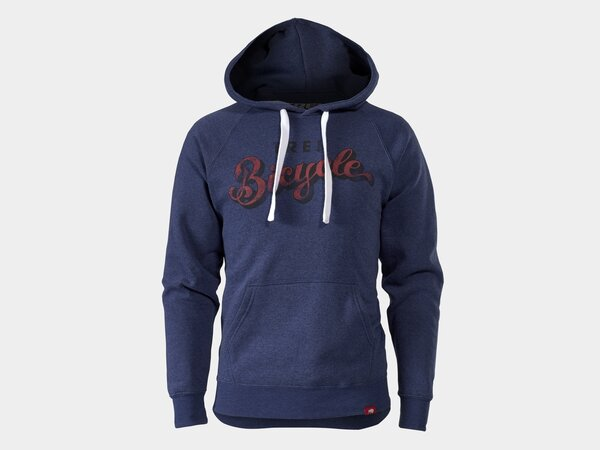 Trek Bicycle Script Hoodie Color: Navy