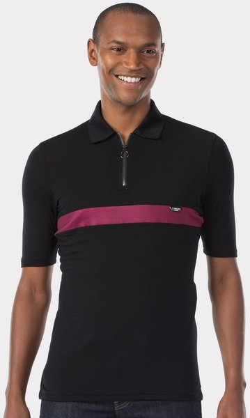 Trek Calivetta Polo Color: Black/Dark Red
