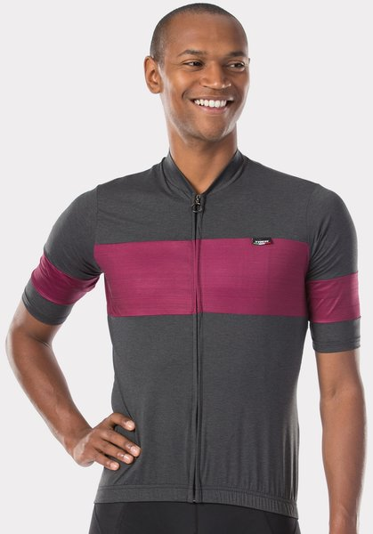 Trek Calivetta Short Sleeve Cycling Jersey Color: Black/Dark Red