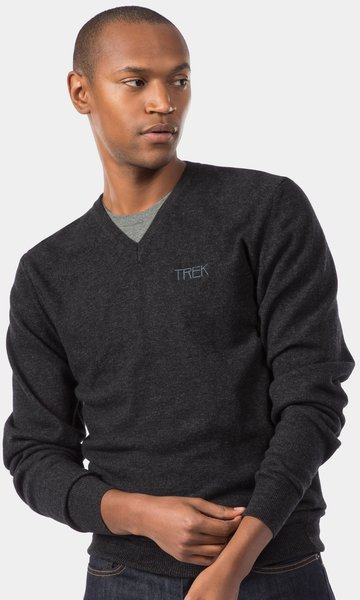Trek Calivetta V-Neck Sweater Color: Solid Charcoal