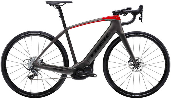 Trek Domane+ Color: Matte Black/Gloss Red