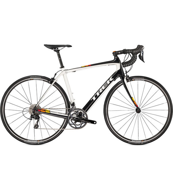 Trek Domane 4.3 C Color: Black Pearl/Crystal White