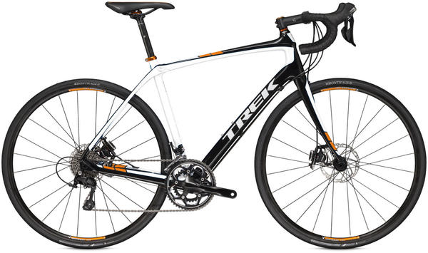 Trek Domane 4.3 Disc Color: Trek Black/Trek White/Fastback Orange