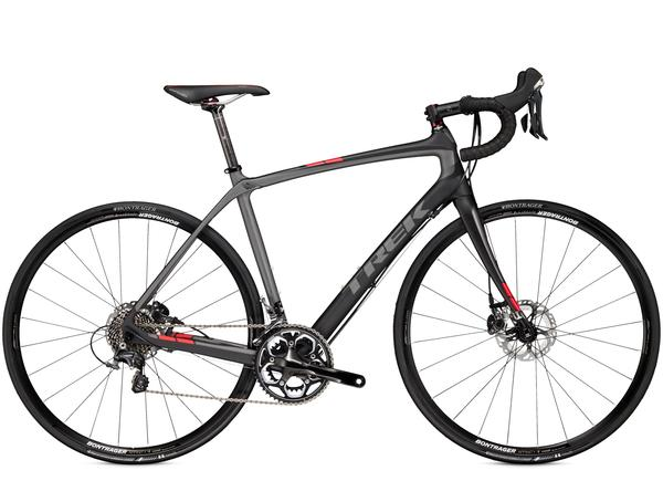 Trek Domane 4.5 Disc Color: Matte Trek Black/Dnister Black/Viper Red