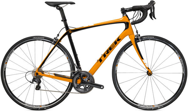 Trek Domane 5.2 C Color: Fastback Orange/Trek Black