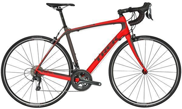 Trek Domane S 4 Color: Matte Viper Red/Dark Roast Black